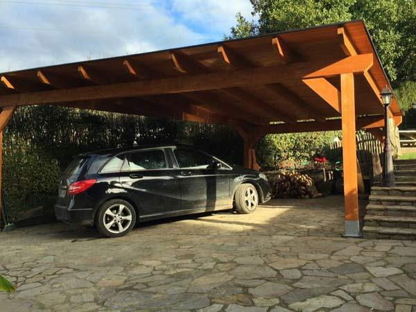 Carport genova la spezia realizzazione box auto in legno for Prezzi del garage della carrozza